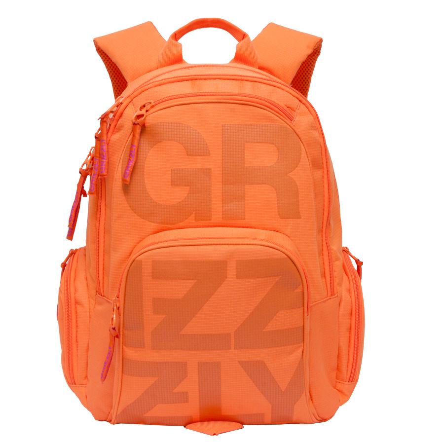 Рюкзак молодежный Grizzly, цвет: оранжевый. 26 л. RU-706-1/2ГризлиРюкзак молодежный, два отделения, карман на молнии на передней стенке, объемный карман на молнии на передней стенке, объемные боковые карманы на молнии, внутренний карман-пенал для карандашей, внутренний карман под гаджет и карман на молнии, жесткая анатомическая спинка, дополнительная ручка-петля, укрепленные лямки,