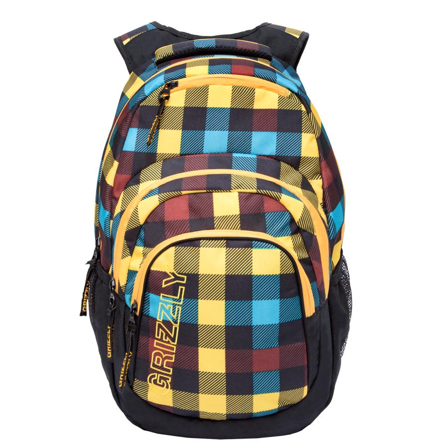 Рюкзак городской Grizzly, цвет: черный, мультиколор. 32 л. RU-704-2/1 рюкзак городской grizzly цвет черный желтый 22 л ru 603 1 2