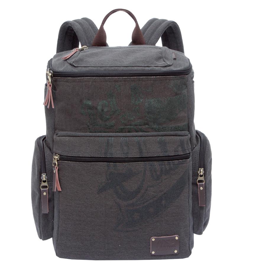 Рюкзак городской Grizzly, цвет: серо-коричневый. 30 л. RU-702-1/3T6G8N-4993Рюкзак городской Grizzl выполнен из качественного брезента и оформлен стильным принтом. Рюкзак имеет петлю для подвешивания и две удобные лямки, длина которых регулируется с помощью пряжек. Изделие имеет одно основное отделение, которое дополнено внутренним составным пеналом-органайзером и укрепленным карманом для ноутбука.На передней стенке расположен клапан на молнии с карманом, также объемный карман на передней стенке. Боковые стенки дополнены двумя открытыми карманами и двумя объемными боковыми карманами на молнии. Спинка дополнена карманом быстрого доступа на застежке-молнии и укрепленной вставкой.
