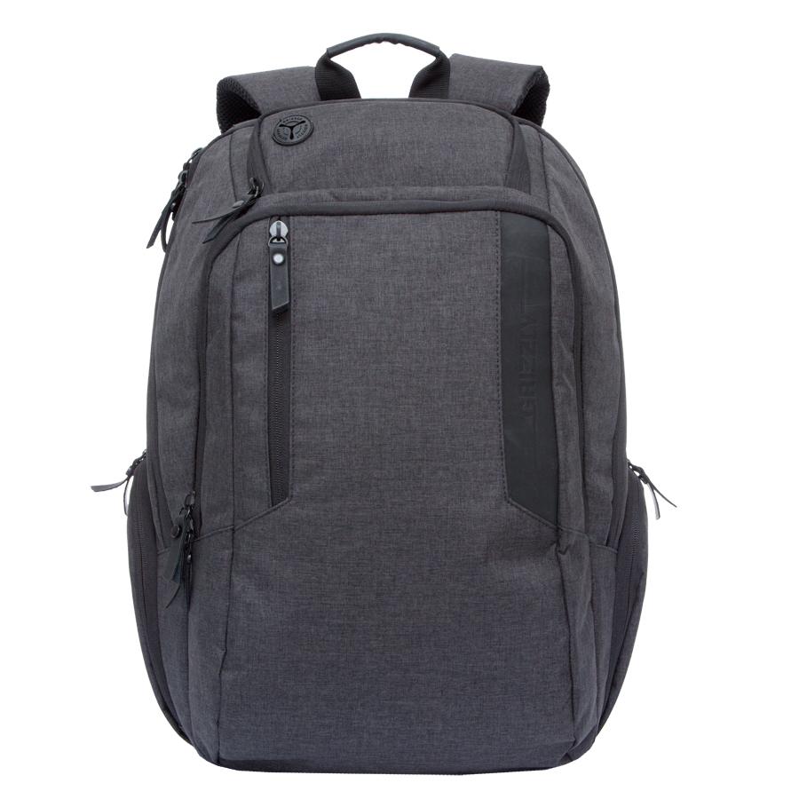 Рюкзак городской мужской Grizzly, цвет: темно-серый, черный. 32 л. RU-700-6/1Z90 blackРюкзак городской Grizzl выполнен из высококачественного полиэстера. Рюкзак имеет ручку-петлю для подвешивания и две укрепленные лямки, длина которых регулируется с помощью пряжек. Модель имеет два основных отделения, которые дополнены стандартным карманом на молнии, пеналом-органайзером, укрепленным карманом для ноутбука и карман для аудиоплеера. Передняя сторона оснащена втачным карманом на молнии. Боковые стенки дополнены объемными карманами на молнии. Тыльная сторона рюкзака имеет укрепленную спинку и нагрудную стяжку-фиксатор.