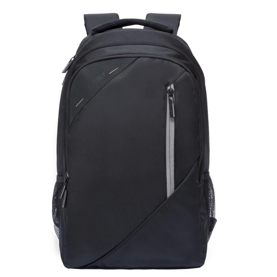 Рюкзак молодежный Grizzly, цвет: черный-серый. 32 л. RU-700-3/480U*09008Рюкзак молодежный, два отделения, карман на молнии на передней стенке, боковые карманы из сетки, внутренний карман на молнии, внутренний составной пенал-органайзер, внутренний укрепленный карман для ноутбука, жесткая анатомическая спинка, карман быстрого доступа на задней стенке, мягкая укрепленная ручка, нагрудная стяжка-фиксатор