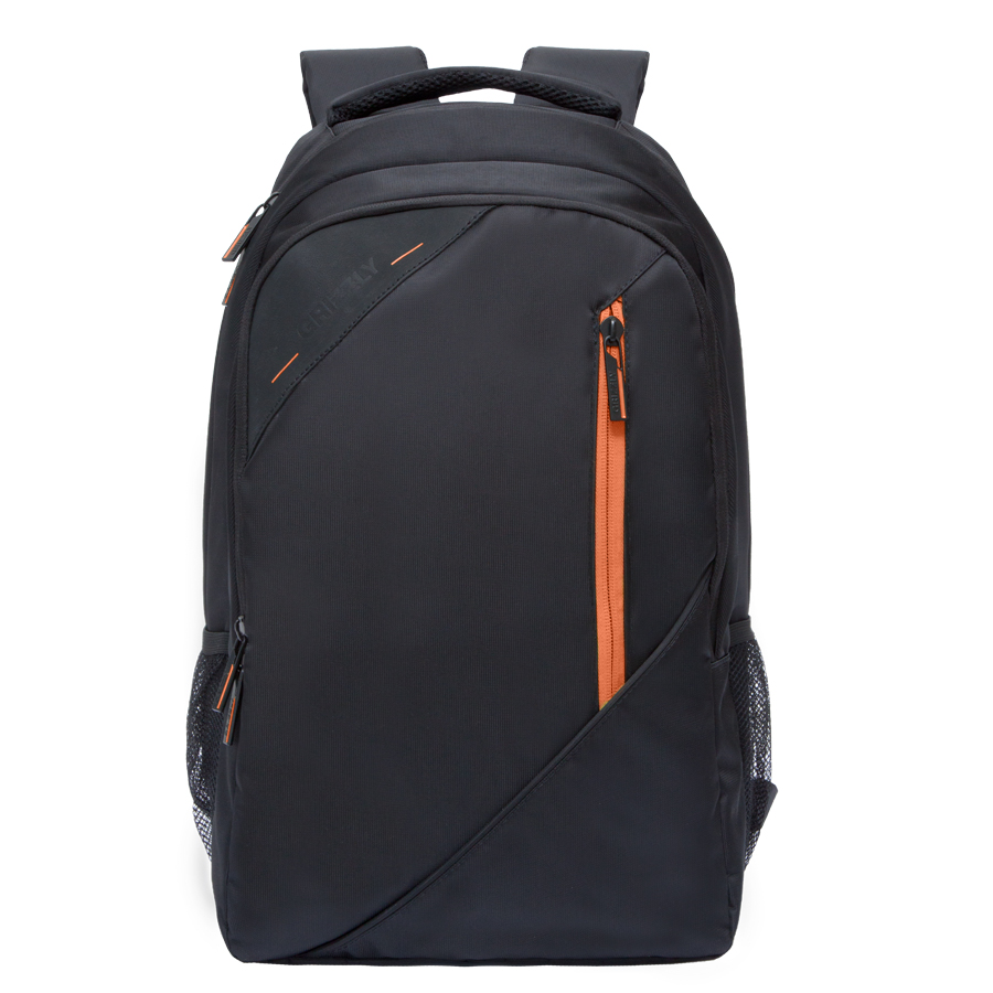Рюкзак молодежный Grizzly, цвет: черный-оранжевый. 32 л. RU-700-3/1RivaCase 8460 blackРюкзак молодежный, два отделения, карман на молнии на передней стенке, боковые карманы из сетки, внутренний карман на молнии, внутренний составной пенал-органайзер, внутренний укрепленный карман для ноутбука, жесткая анатомическая спинка, карман быстрого доступа на задней стенке, мягкая укрепленная ручка, нагрудная стяжка-фиксатор