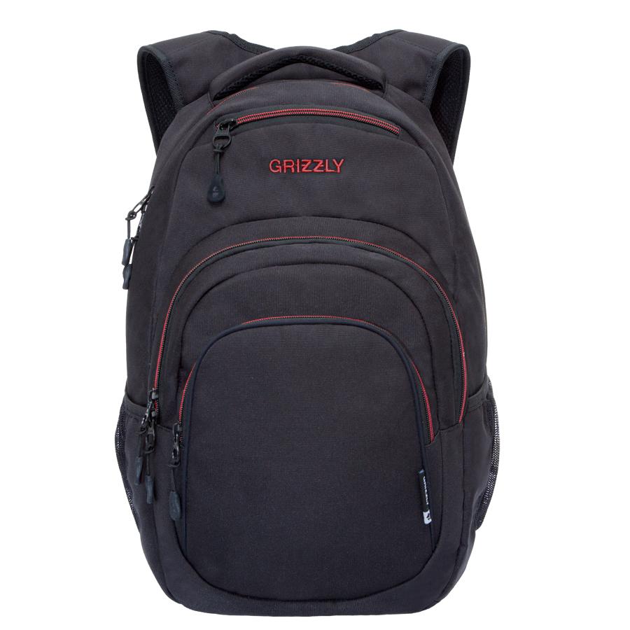 Рюкзак молодежный Grizzly, цвет: черный-красный. 32 л. RU-700-1/1Z90 blackРюкзак молодежный, одно отделение, карман на молнии на передней стенке, объемный карман на молнии на передней стенке, боковые карманы из сетки, внутренний составной пенал-органайзер, внутренний укрепленный карман для ноутбука, укрепленная спинка, карман быстрого доступа в верхней части рюкзака, мягкая укрепленная ручка, нагрудная стяжка-фиксатор, укрепленные лямки.