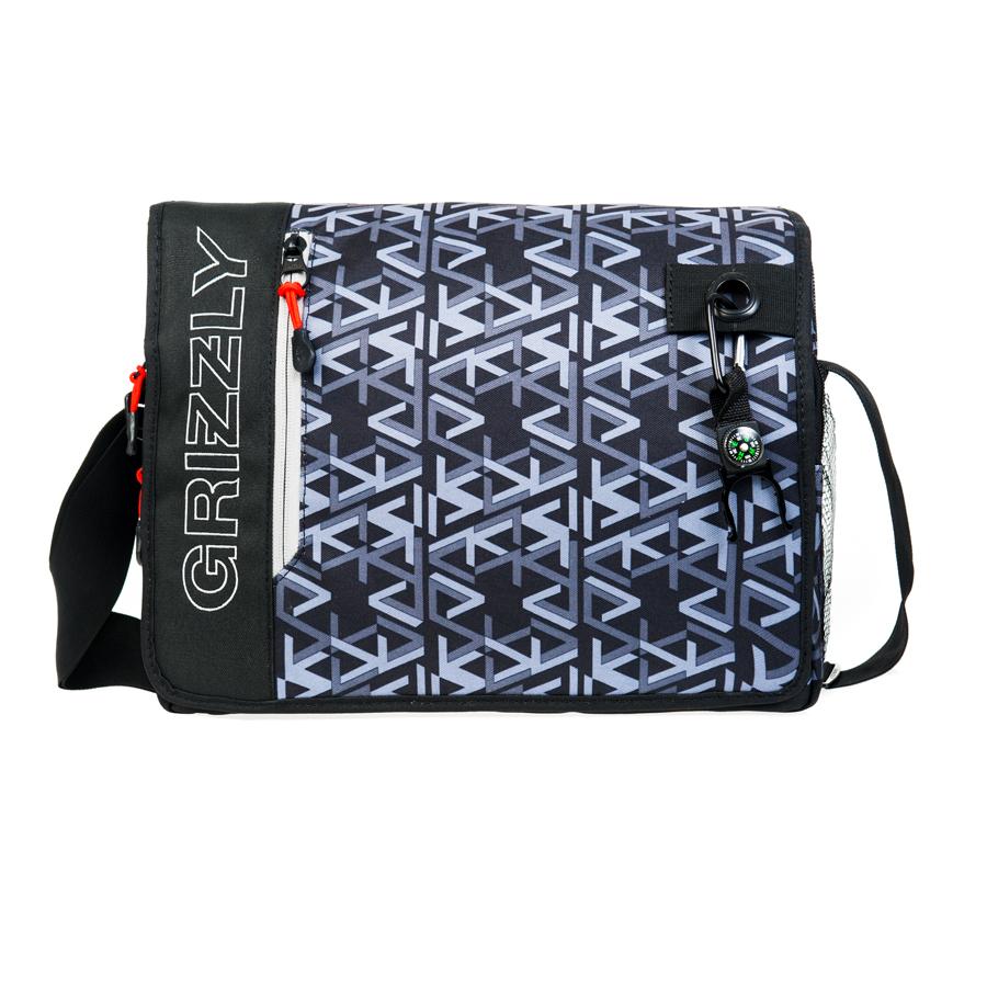 Сумка молодежная Grizzly, цвет: серый, 14 л. MM-610-3/4Z90 blackМолодежная сумкаGrizzly имеет одно отделение, клапан на липучках с карманом на молнии, объемный передний карман на молнии, внутренний карман для ноутбука/планшета, внутренний карман на молнии, регулируемый плечевой ремень, брелок-игрушка.