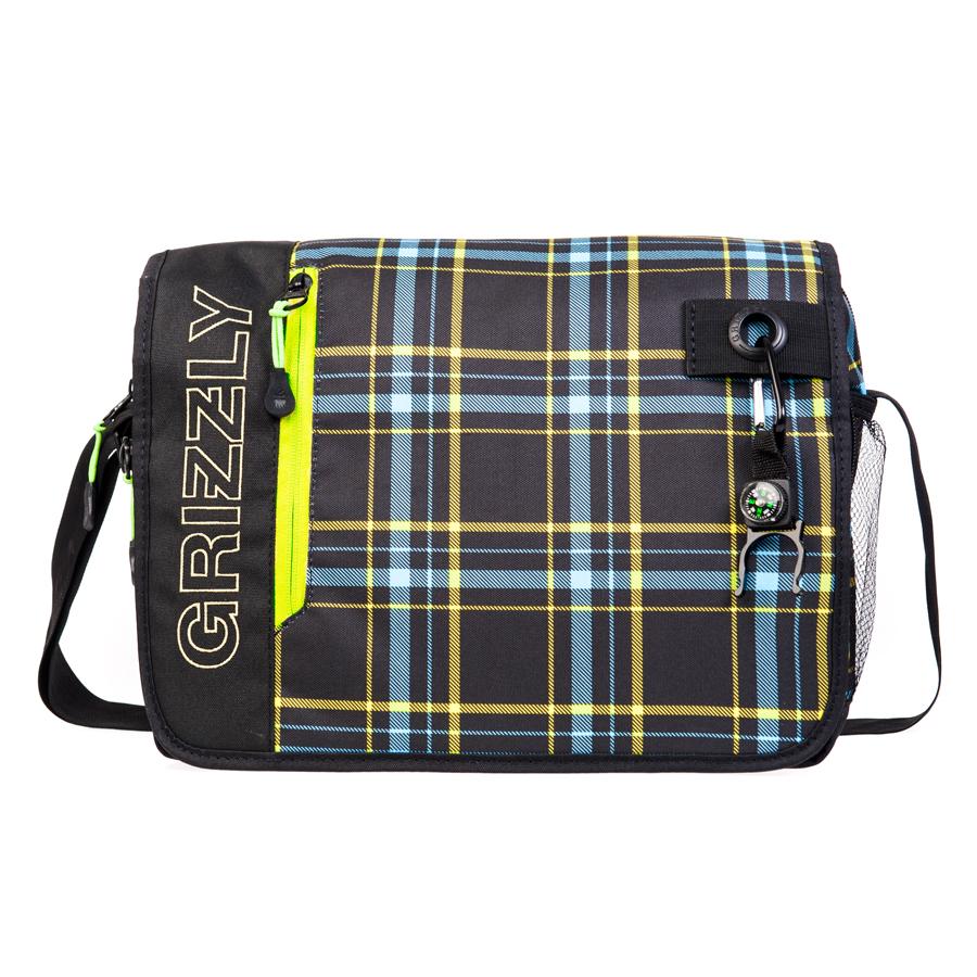 Сумка молодежная Grizzly, цвет: черный, голубой, 14 л. MM-610-3/2MM-610-3/2Молодежная сумкаGrizzly имеет одно отделение, клапан на липучках с карманом на молнии, объемный передний карман на молнии, внутренний карман для ноутбука/планшета, внутренний карман на молнии, регулируемый плечевой ремень, брелок-игрушка.