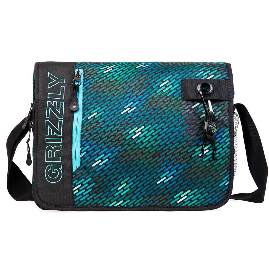 Сумка молодежная Grizzly, цвет: черный, бирюза, 14 л. MM-610-3/1MM-610-3/1Молодежная сумкаGrizzly имеет одно отделение, клапан на липучках с карманом на молнии, объемный передний карман на молнии, внутренний карман для ноутбука/планшета, внутренний карман на молнии, регулируемый плечевой ремень, брелок-игрушка.