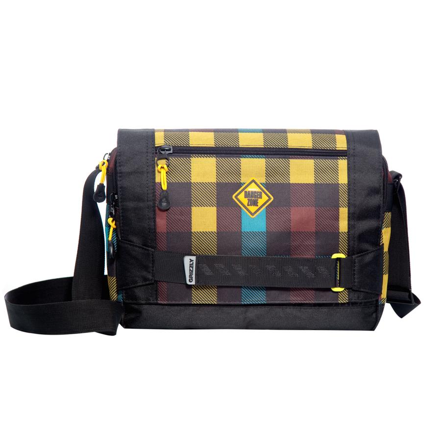 Сумка молодежная Grizzly, цвет: черный, желтый, 14 л. MM-602-2/4332515-2358Молодежная сумка Grizzly имеет два отделения, клапан на липучках, два передних кармана, задний карман на молнии, внутренний карман на молнии, регулируемый плечевой ремень.