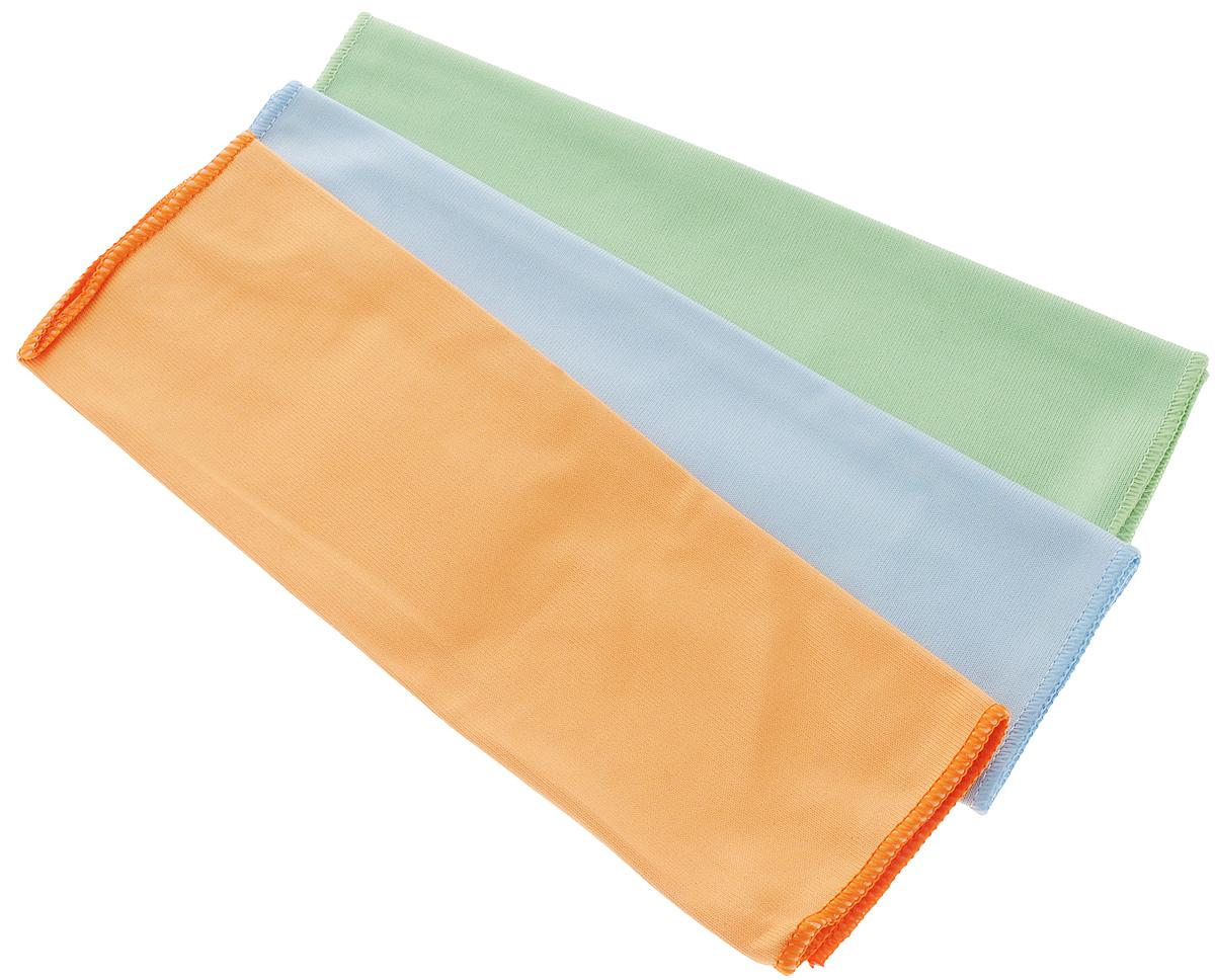 Набор салфеток для мытья и полировки автомобиля Runway Racing, 38 х 38 см, 3 шт96515412Набор многофункциональных салфеток Runway Racing выполнен из высококачественной микрофибры. Микрофибровое полотно удаляет грязь с поверхности намного эффективнее, быстрее и значительно более бережно в сравнении с обычной тканью, что существенно снижает время на проведение уборки, поскольку отсутствует необходимость протирать одно и то же место дважды. Набор обладает уникальной способностью быстро впитывать большой объем жидкости. Клиновидные микроскопические волокна захватывают и легко удерживают частички пыли, жировой и никотиновый налет, микроорганизмы, в том числе болезнетворные и вызывающие аллергию. Салфетка великолепно удаляет пыль и грязь. Протертая поверхность становится идеально чистой, сухой, блестящей, без разводов и ворсинок. Микрофибра устойчива к истиранию, ее можно быстро вернуть к первоначальному виду с помощью машинной стирки при малом количестве моющих средств. Размер салфетки: 38 х 38 см.