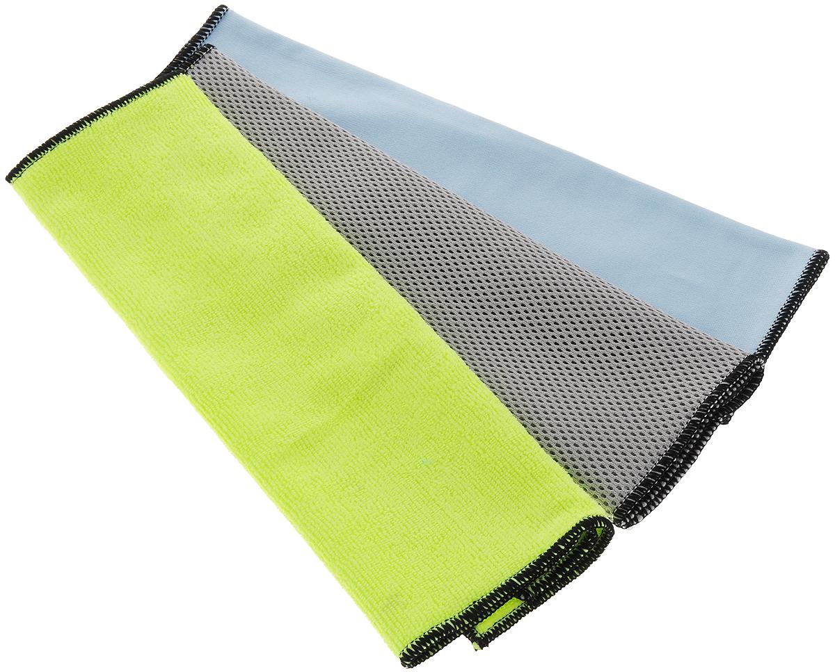 Набор салфеток для мытья и чистки экстерьера и интерьера автомобиля Runway Racing, 36 х 36 см, 3 штRR659Набор многофункциональных салфеток Runway Racing выполнен из высококачественной микрофибры. Микрофибровое полотно удаляет грязь с поверхности намного эффективнее, быстрее и значительно более бережно в сравнении с обычной тканью, что существенно снижает время на проведение уборки, поскольку отсутствует необходимость протирать одно и то же место дважды. Набор обладает уникальной способностью быстро впитывать большой объем жидкости.Салфетки из микрофибры в сухом виде притягивают к себе пыль, чистят и полируют поверхность, в увлажненном виде они способны очищать сильные загрязнения и жировой налет.Желтая салфетка - для мытья кузова автомобиля или для удаления пыли. Серая - для удаления стойкой грязи с кузова автомобиля. Синяя – для мытья стекол автомобиля. Безопасно использовать на самых деликатных поверхностей.Размер салфетки: 36 х 36 см. Набор салфеток для мытья и чистки экстерьера и интерьера автомобиля