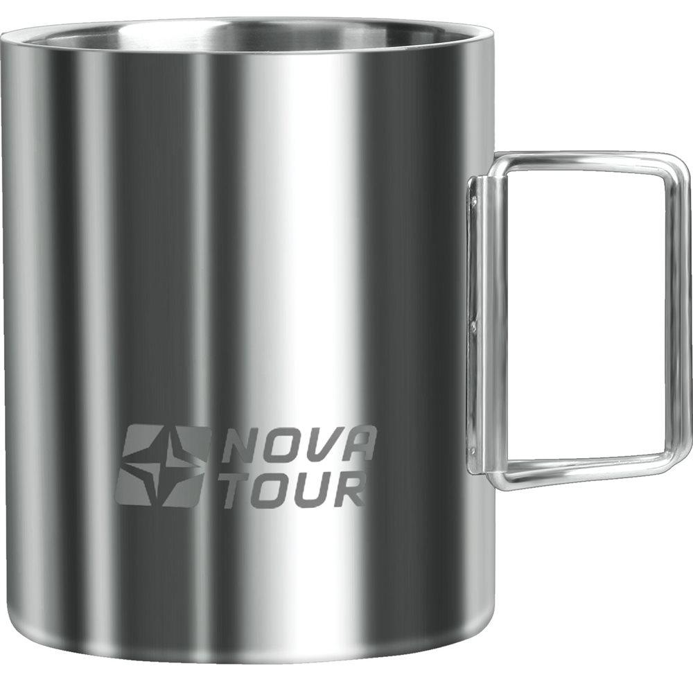 Термокружка NOVA TOUR, со складными ручками, цвет: металлик, 0,45 лAC-2233_серыйТермокружка NOVA TOUR предназначена специально для горячих и холодных напитков. Она изготовлена из высококачественной нержавеющей стали. Благодаря складным ручкам кружка занимает минимум места в рюкзаке. Такая кружка прекрасно сохраняет свою целостность и первозданный вид даже при многократном использовании.