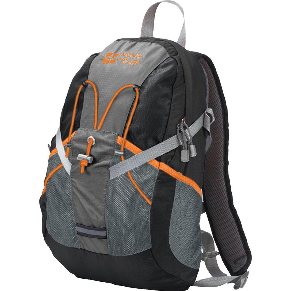 Рюкзак городской Nova Tour Вижн, цвет: черный, серый, 20 л332515-2800Рюкзак городской Nova Tour Вижн - практичный рюкзак для города и спорта. Полужесткие вставки в спине рюкзака, крепление для шлема, отделение для гидратора, боковые карманы из сетки – специально для подвижных людей.