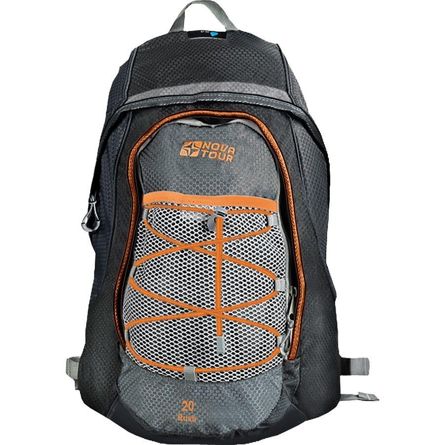 Рюкзак городской Nova Tour Раш, цвет: серый, черный, 20 л1125040Городской рюкзак Раш 20