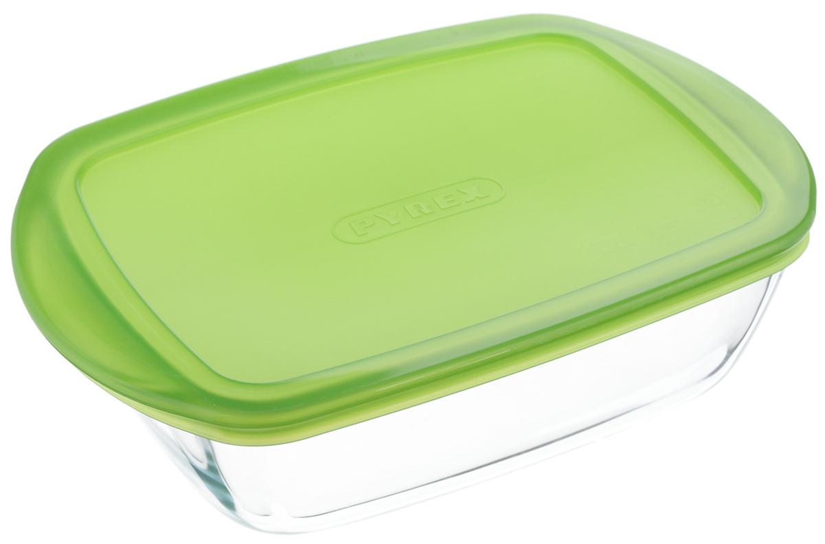 Форма для запекания Pyrex Cook & Store, прямоугольная, с крышкой, цвет: прозрачный, зеленый, 23 x 15 x 6,5 см54 009312Форма для запекания Pyrex Cook & Store предназначена для запекания различных блюд в духовке и с помощью СВЧ. Благодаря приятному и легкому дизайну, содержимое может подаваться на стол в этой же посуде, не требуя перекладывания. За счет многофункциональности и удобной крышки из гибкого пластика, при необходимости, форма применяется в качестве контейнера для хранения различных продуктов, а также возможно хранение приготовленной в них пищи в холодильнике.Форма изготовлена из из жаропрочного боросиликатного стекла, особенностью которого является его экологичность и гигиеничность.Устойчиво к резким перепадам температуры.Можно использовать в СВЧ.Можно мыть в посудомоечной машине.Устойчива к царапанию, не впитывает запахи, не меняет цвет.Размер формы: 23 х 15 х 6,5 см.