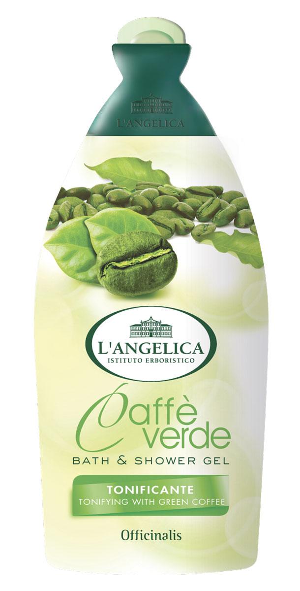 L'angelica (51450) Гель для душа и ванны Зеленый кофе, 500 мл гель для душа guam гель против отеков для ванны и душа bagnodoccia
