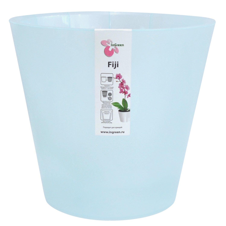Горшок для цветов InGreen Фиджи. Орхидея, цвет: голубой, диаметр 23 смZ-0307Горшок InGreen Фиджи. Орхидея, выполненный из высококачественного полипропилена (пластика), предназначен для выращивания комнатных цветов, растений и трав. Специальная конструкция обеспечивает вентиляцию в корневой системе растения. Такой горшок порадует вас современным дизайном и функциональностью, а также оригинально украсит интерьер любого помещения. Диаметр горшка (по верхнему краю): 23 см.Высота горшка: 20,8 см.Объем горшка: 5 л.