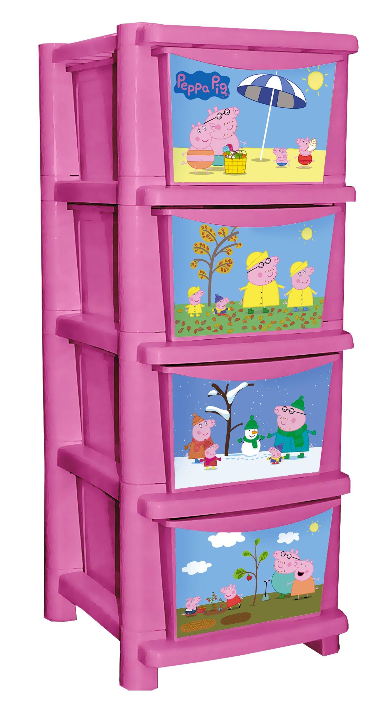 Комод для детской комнаты Little Angel Свинка Пеппа, цвет: розовыйLA1026IR_слоновая костьЯркий и функциональный комод с любимыми героями станет украшением каждой детской. Малышу так легкого поддерживать порядок, когда для вещей и игрушек есть 4 удобных выдвижных ящика. Обучающий декор расскажет о смене времен года и их Особенностях, а семья свинок поднимет настроение в любую погоду. Преимущества: эксклюзивный обучающий декор Времена года; супер устойчивая конструкция комода; литые ящики выдерживают больше нагрузки; удобная ручка на каждом ящике; простой и надежный механизм сборки комода.