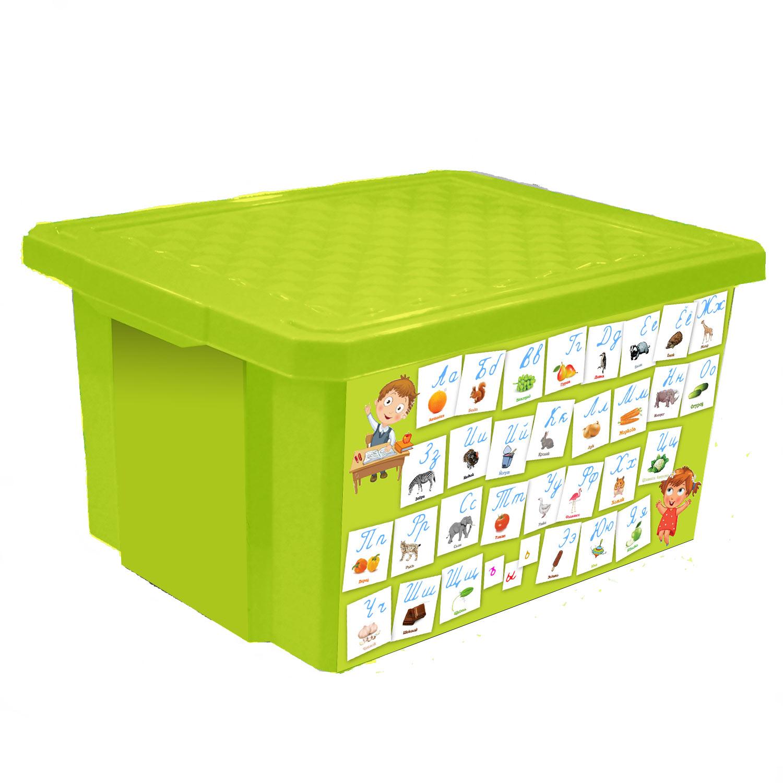 """Универсальный ящик для хранения Little Angel """"X-BOX. Обучайка. Азбука"""" с новым обучающим декором - это простой и доступный способ познакомить малыша с алфавитом а также объяснить отличия написания прописных и печатных букв. Такой функциональный объект для хранения несомненно станет достойным дополнением пространства развивающей среды для вашего подрастающего гения. Ящик декорирован с помощью технологии In Mould Labeling. Декор ящика устойчив при мытье, дольше сохраняет насыщенность цветов . Прочный каркас ящика позволит хранить как легкие вещи, так и более тяжелый груз. Уникальный обучающий декор линии """"Обучайка"""" разработан при участии педагогов ДОУ и детских психологов."""