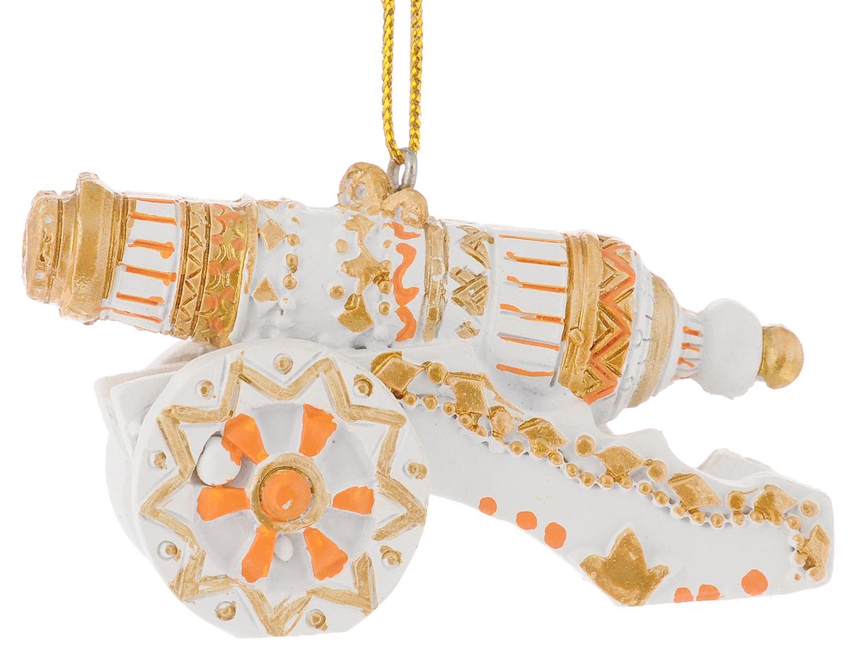 Украшение новогоднее подвесное Феникс-Презент Пушка, высота 4,5 см41819Новогоднее украшение Феникс-Презент Пушка отлично подойдет для декорации вашего дома и новогодней ели. Изделие выполнено из полирезины и оснащено специальной петелькой для подвешивания.Елочная игрушка - символ Нового года. Она несет в себе волшебство и красоту праздника. Создайте в своем доме атмосферу веселья и радости, украшая всей семьей новогоднюю елку нарядными игрушками, которые будут из года в год накапливать теплоту воспоминаний.Размер фигурки: 7 х 3,5 х 4,5 см.