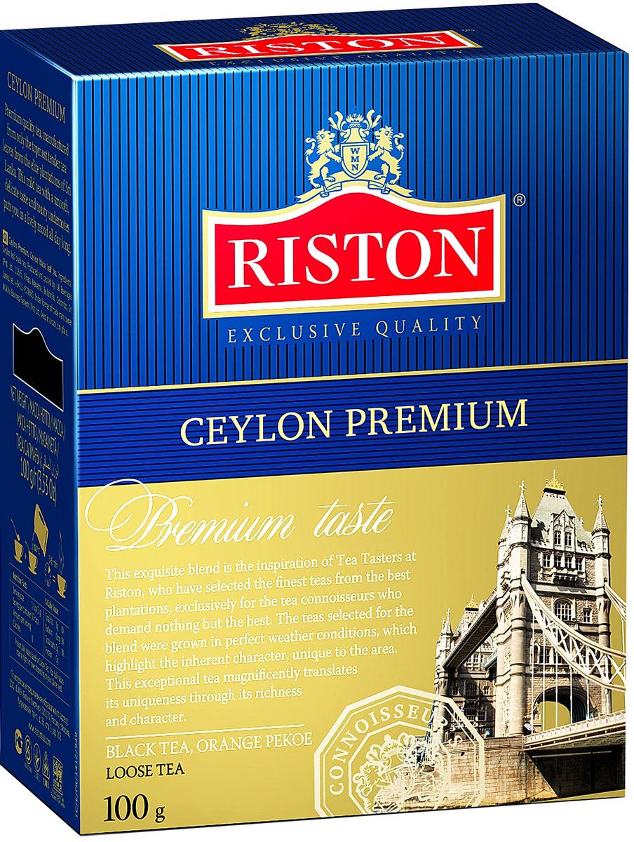 Riston Цейлонский Премиальный черный листовой чай, 100 г101246Riston Цейлонский Премиальный - эксклюзивный сорт черного чая высшей категории, в состав которого входят только верхние листочки, собранные на элитных плантациях Шри-Ланки. Этот крепкий настой с мягким, деликатным вкусом и насыщенным ароматом создает отличный настрой на весь день.