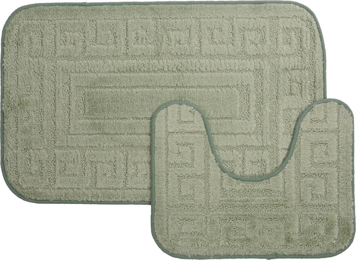 Набор ковриков для ванной MAC Carpet Рома. Версаче, цвет: светло-зеленый, 50 х 80 см, 50 х 40 см, 2 шт391602Набор MAC Carpet Рома. Версаче, выполненный из полипропилена, состоит из двух ковриков для ванной комнаты, один из которых имеет вырез под унитаз. Противоскользящее основание изготовлено из термопластичной резины. Коврики мягкие и приятные на ощупь, отлично впитывают влагу и быстро сохнут. Высокая износостойкость ковриков и стойкость цвета позволит вам наслаждаться покупкой долгие годы. Можно стирать вручную или в стиральной машине на деликатном режиме при температуре 30°С.