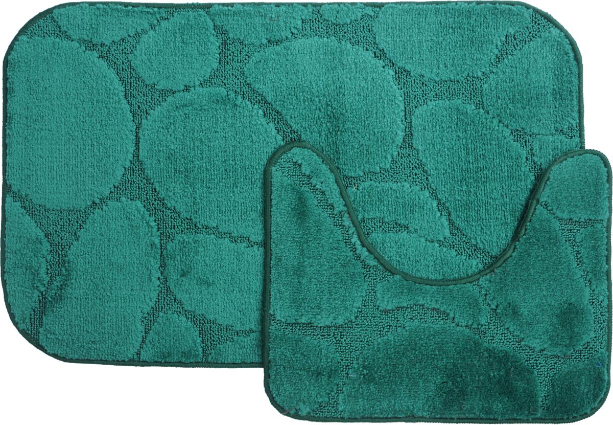 Набор ковриков для ванной MAC Carpet Рома. Камни, цвет: темно-зеленый, 50 х 80 см, 50 х 40 см, 2 штNN-605-LS-WНабор MAC Carpet Рома. Камни, выполненный из полипропилена, состоит из двух ковриков для ванной комнаты, один из которых имеет вырез под унитаз. Противоскользящее основание изготовлено из термопластичной резины. Коврики мягкие и приятные на ощупь, отлично впитывают влагу и быстро сохнут. Высокая износостойкость ковриков и стойкость цвета позволит вам наслаждаться покупкой долгие годы. Можно стирать вручную или в стиральной машине на деликатном режиме при температуре 30°С.