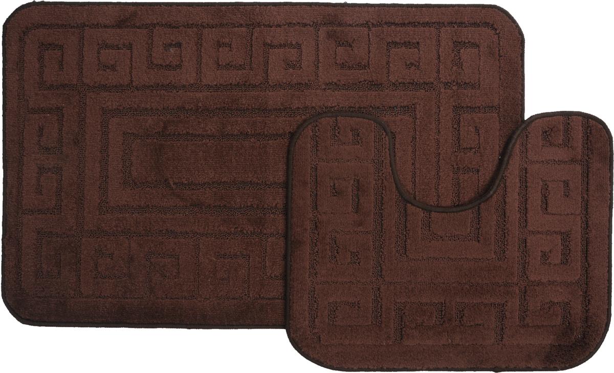 Набор ковриков для ванной MAC Carpet Рома. Версаче, цвет: темно-коричневый, 60 х 100 см, 50 х 60 см, 2 штRG-D31SНабор MAC Carpet Рома. Версаче, выполненный из полипропилена, состоит из двух ковриков для ванной комнаты, один из которых имеет вырез под унитаз. Противоскользящее основание изготовлено из термопластичной резины. Коврики мягкие и приятные на ощупь, отлично впитывают влагу и быстро сохнут. Высокая износостойкость ковриков и стойкость цвета позволит вам наслаждаться покупкой долгие годы. Можно стирать вручную или в стиральной машине на деликатном режиме при температуре 30°С.