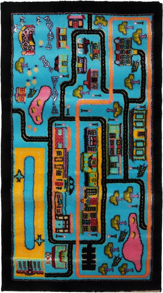 Ковер детский Kamalak Tekstil Город, прямоугольный, 60 x 110 смFS-80299Детский ковер Kamalak Tekstil Город изготовлен из высококачественного полипропилена.Полипропилен износостоек, нетоксичен, не впитывает влагу, не провоцирует аллергию. Структура волокна в полипропиленовых коврах гладкая, поэтому грязь не будет въедаться и скапливаться на ворсе. Практичный и износоустойчивый ворс не истирается и не накапливает статическое электричество. Ковер обладает хорошими показателями теплостойкости и шумоизоляции. Оригинальный рисунок позволит гармонично оформить интерьер детской комнаты. За счет невысокого ворса ковер легко чистить. При надлежащем уходе синтетический ковер прослужит долго, не утратив ни яркости узора, ни блеска ворса, ни упругости. Самый простой способ избавить изделие от грязи - пропылесосить его с обеих сторон (лицевой и изнаночной). Влажная уборка с применением шампуней и моющих средств не противопоказана. Хранить рекомендуется в свернутом рулоном виде.