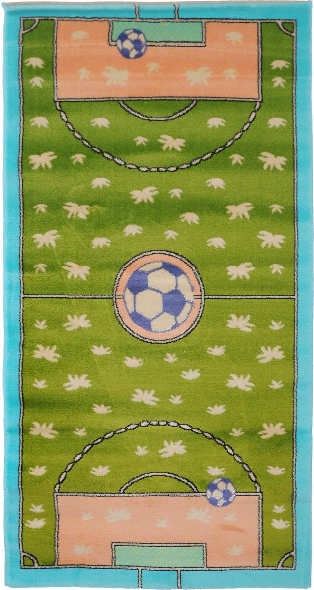 Ковер детский Kamalak Tekstil Футбол, прямоугольный, 80 x 150 смTHN132NДетский ковер Kamalak Tekstil Футбол изготовлен из высококачественного полипропилена.Полипропилен износостоек, нетоксичен, не впитывает влагу, не провоцирует аллергию. Структура волокна в полипропиленовых коврах гладкая, поэтому грязь не будет въедаться и скапливаться на ворсе. Практичный и износоустойчивый ворс не истирается и не накапливает статическое электричество. Ковер обладает хорошими показателями теплостойкости и шумоизоляции. Оригинальный рисунок позволит гармонично оформить интерьер детской комнаты. За счет невысокого ворса ковер легко чистить. При надлежащем уходе синтетический ковер прослужит долго, не утратив ни яркости узора, ни блеска ворса, ни упругости. Самый простой способ избавить изделие от грязи - пропылесосить его с обеих сторон (лицевой и изнаночной). Влажная уборка с применением шампуней и моющих средств не противопоказана. Хранить рекомендуется в свернутом рулоном виде.
