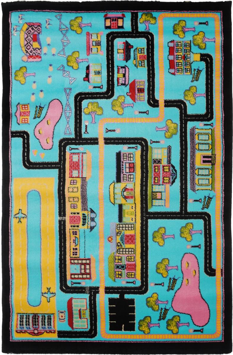 Ковер детский Kamalak Tekstil Город, прямоугольный, 100 x 150 см300074_ежевикаДетский ковер Kamalak Tekstil Город изготовлен из высококачественного полипропилена.Полипропилен износостоек, нетоксичен, не впитывает влагу, не провоцирует аллергию. Структура волокна в полипропиленовых коврах гладкая, поэтому грязь не будет въедаться и скапливаться на ворсе. Практичный и износоустойчивый ворс не истирается и не накапливает статическое электричество. Ковер обладает хорошими показателями теплостойкости и шумоизоляции. Оригинальный рисунок позволит гармонично оформить интерьер детской комнаты. За счет невысокого ворса ковер легко чистить. При надлежащем уходе синтетический ковер прослужит долго, не утратив ни яркости узора, ни блеска ворса, ни упругости. Самый простой способ избавить изделие от грязи - пропылесосить его с обеих сторон (лицевой и изнаночной). Влажная уборка с применением шампуней и моющих средств не противопоказана. Хранить рекомендуется в свернутом рулоном виде.