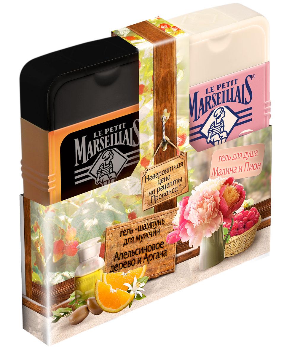 Le Petit Marseillais Гель-шампунь для мужчин Апельсиновое дерево и Аргана 250 мл + Гель для душа Малина и пион 250 млFS-54115Первое, что оценит любой мужчина - это формула 2 в 1. В отличии от представительниц прекрасного пола, для которых число баночек в ванной прямо пропорционально гармонии и спокойствию (и чем их там больше, тем гармоничнее), у мужчин, чаще всего, есть один шампунь и один гель для душа. А если эти два средства будут находится в одной бутылочке - это просто идеально! Гель-шампунь заряжает энергией, помогает укрепить волосы и увлажняет кожу.Гель для душа Малина и пион, 250 мл - гель для душа экстрамягкий. Увлажняет и питает. Мягко очищает и увлажняет вашу кожу. Необычное сочетание фруктовых и цветочных ноток аромата пробуждает ваши чувства, окуная в атмосферу Юга Франции.