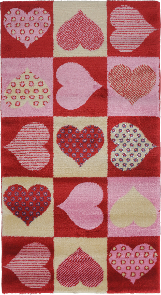 Ковер Kamalak Tekstil Love, прямоугольный, 60 x 110 см22419Ковер Kamalak Tekstil Love изготовлен из высококачественного полипропилена.Полипропилен износостоек, нетоксичен, не впитывает влагу, не провоцирует аллергию. Структура волокна в полипропиленовых коврах гладкая, поэтому грязь не будет въедаться и скапливаться на ворсе. Практичный и износоустойчивый ворс не истирается и не накапливает статическое электричество. Ковер обладает хорошими показателями теплостойкости и шумоизоляции. Оригинальный рисунок позволит гармонично оформить интерьер комнаты или гостиной.За счет невысокого ворса ковер легко чистить. При надлежащем уходе синтетический ковер прослужит долго, не утратив ни яркости узора, ни блеска ворса, ни упругости. Самый простой способ избавить изделие от грязи - пропылесосить его с обеих сторон (лицевой и изнаночной). Влажная уборка с применением шампуней и моющих средств не противопоказана. Хранить рекомендуется в свернутом рулоном виде.