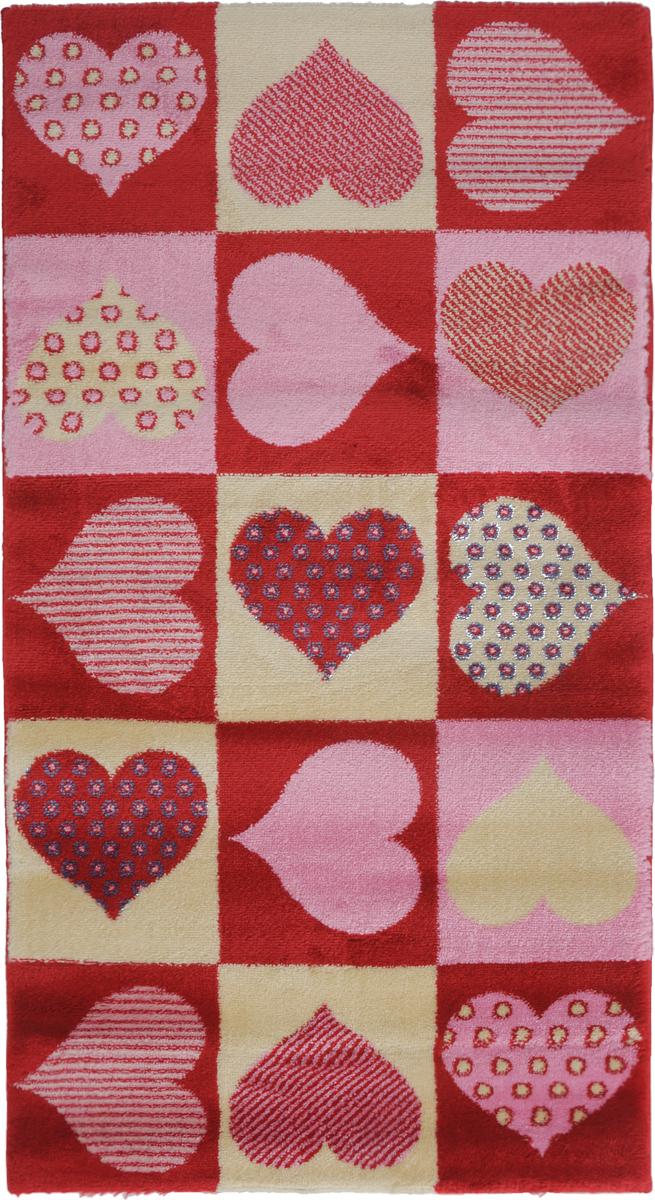 Ковер Kamalak Tekstil Love, прямоугольный, 60 x 110 см ковер love of snow