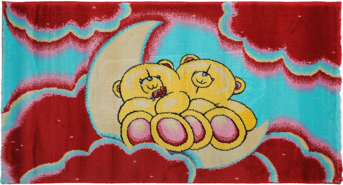 Ковер детский Kamalak Tekstil Мишки, прямоугольный, 60 x 110 смБрелок для ключейДетский ковер Kamalak Tekstil Мишки изготовлен из высококачественного полипропилена.Полипропилен износостоек, нетоксичен, не впитывает влагу, не провоцирует аллергию. Структура волокна в полипропиленовых коврах гладкая, поэтому грязь не будет въедаться и скапливаться на ворсе. Практичный и износоустойчивый ворс не истирается и не накапливает статическое электричество. Ковер обладает хорошими показателями теплостойкости и шумоизоляции. Оригинальный рисунок позволит гармонично оформить интерьер детской комнаты. За счет невысокого ворса ковер легко чистить. При надлежащем уходе синтетический ковер прослужит долго, не утратив ни яркости узора, ни блеска ворса, ни упругости. Самый простой способ избавить изделие от грязи - пропылесосить его с обеих сторон (лицевой и изнаночной). Влажная уборка с применением шампуней и моющих средств не противопоказана. Хранить рекомендуется в свернутом рулоном виде.