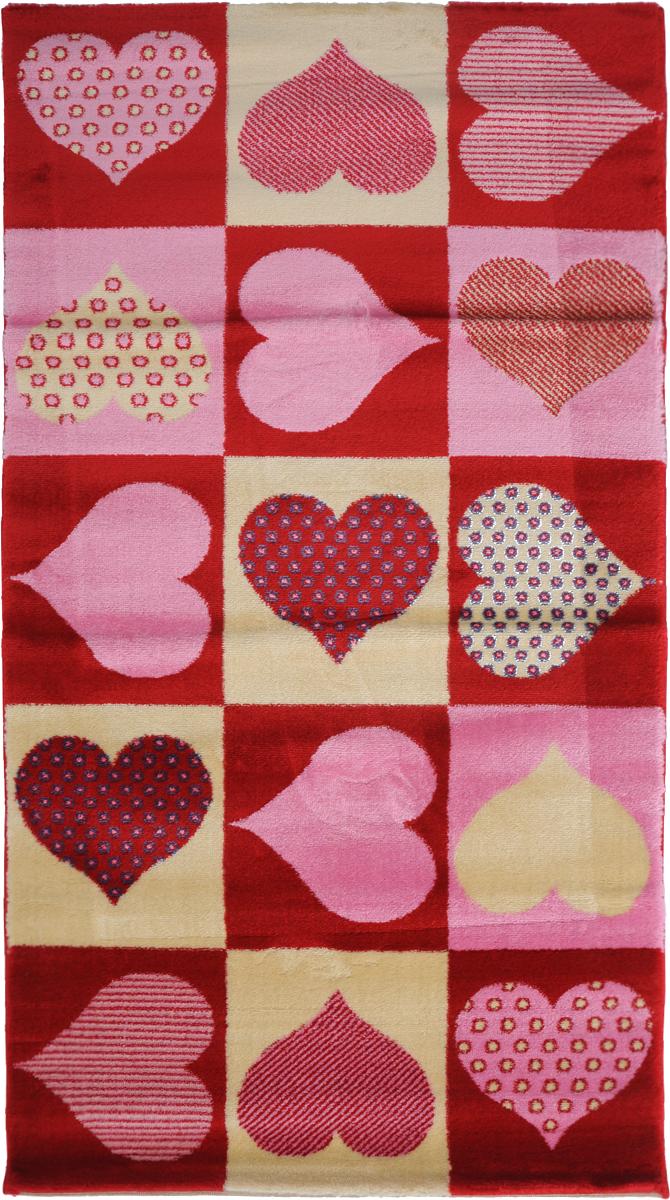 Ковер Kamalak Tekstil Love, прямоугольный, 80 x 150 см25051 7_желтыйКовер Kamalak Tekstil Love изготовлен из высококачественного полипропилена.Полипропилен износостоек, нетоксичен, не впитывает влагу, не провоцирует аллергию. Структура волокна в полипропиленовых коврах гладкая, поэтому грязь не будет въедаться и скапливаться на ворсе. Практичный и износоустойчивый ворс не истирается и не накапливает статическое электричество. Ковер обладает хорошими показателями теплостойкости и шумоизоляции. Оригинальный рисунок позволит гармонично оформить интерьер комнаты или гостиной.За счет невысокого ворса ковер легко чистить. При надлежащем уходе синтетический ковер прослужит долго, не утратив ни яркости узора, ни блеска ворса, ни упругости. Самый простой способ избавить изделие от грязи - пропылесосить его с обеих сторон (лицевой и изнаночной). Влажная уборка с применением шампуней и моющих средств не противопоказана. Хранить рекомендуется в свернутом рулоном виде.