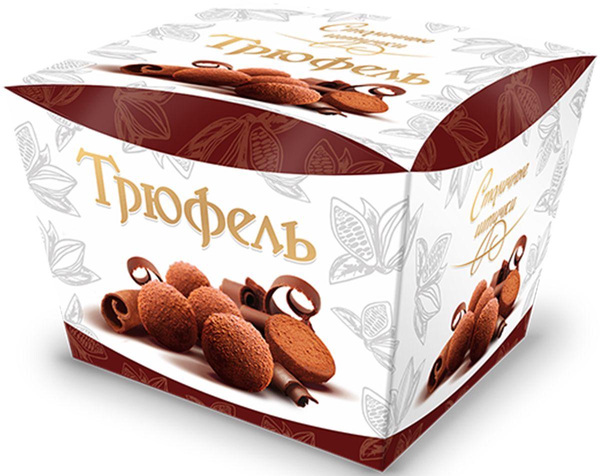 Столичные штучки Трюфель драже, 150 г0120710Гармоничное сочетание тающей во рту шоколадно-трюфельной массы, покрытой тончайшим слоем темного шоколада с посыпкой натуральным какао.