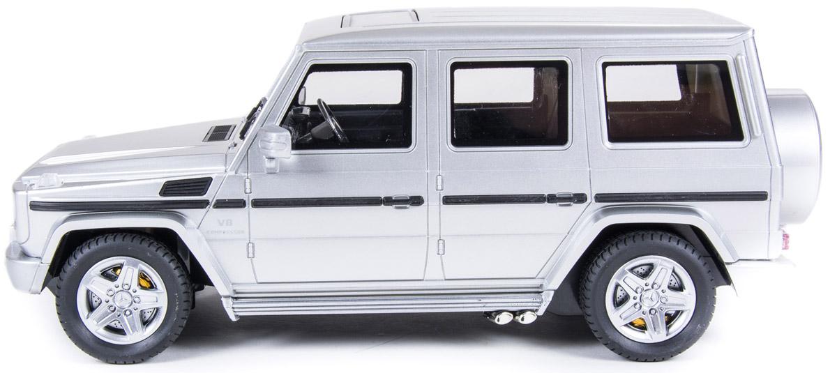 Радиоуправляемая автомодель Mercedes-Benz с электродвигателем. Данная модель полностью повторяет внешний вид настоящего автомобиля и может двигаться во всех направлениях (влево, вправо, вперед, назад).
