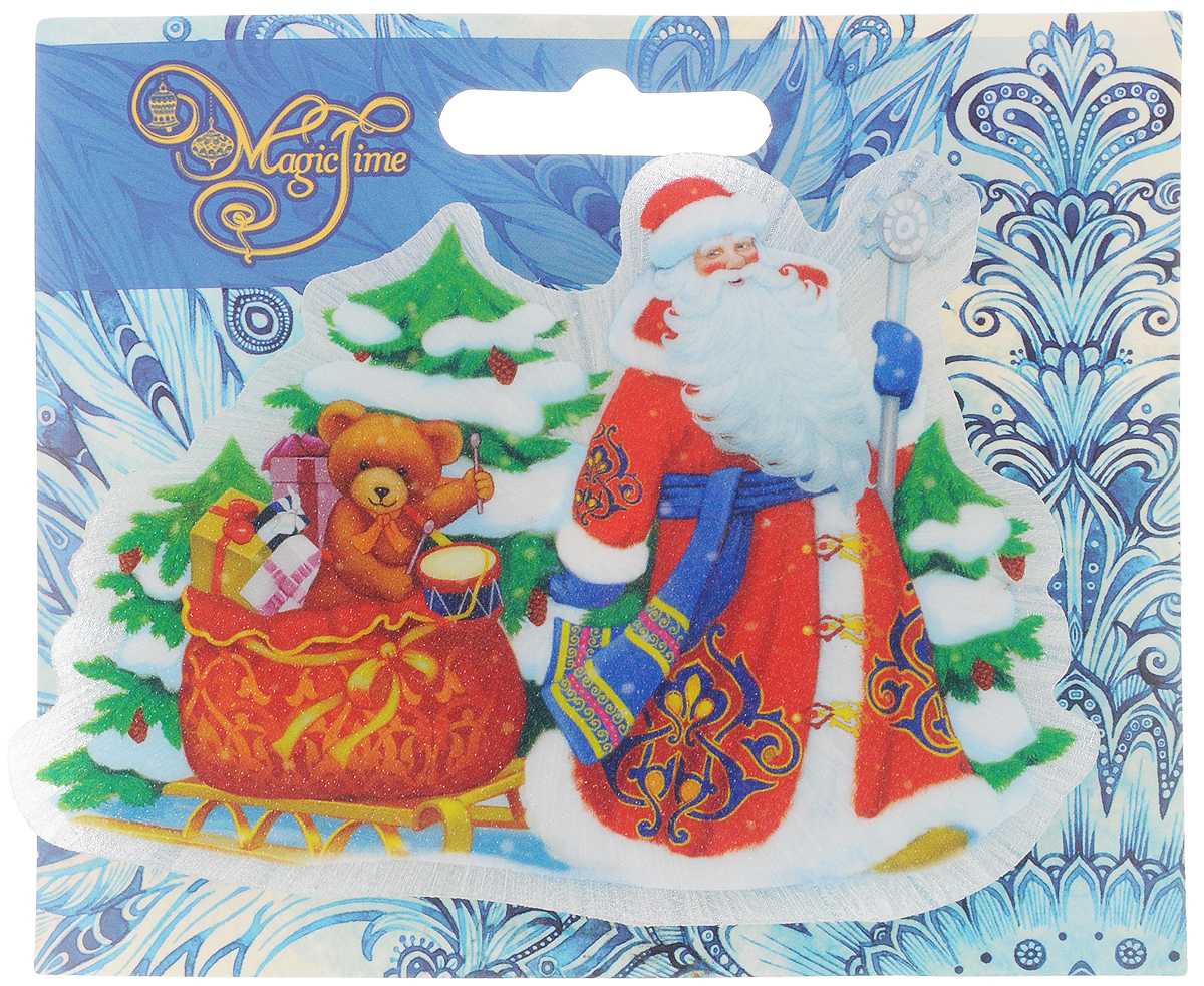 Украшение новогоднее Magic Time Дед Мороз и медвежонок, со светодиодной подсветкой, 12 x 8 x 3 смIRK-503Оригинальное новогоднее украшение Magic Time Дед Мороз и медвежонок выполнено из ПВХ. С помощью специальной вакуумной присоски украшение можно прикрепить почти на любую плоскую поверхность. Светодиодная подсветка создаст атмосферу волшебства и ощущение праздника.Такой сувенир оформит ваш интерьер в преддверии Нового года и создаст атмосферу уюта.Размер: 12 x 8 x 3 см;Элемент питания: LR44;Мощность: 0,06 Вт;Напряжение: 3 В.