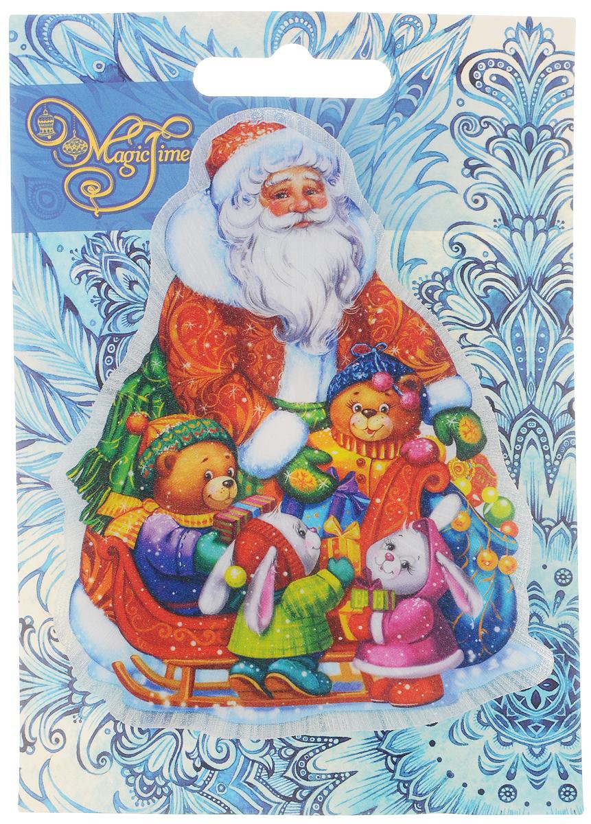 Украшение новогоднее Magic Time Новогоднее настроение, со светодиодной подсветкой, 11 x 10 x 3 см804833_белыйОригинальное новогоднее украшение Magic Time Новогоднее настроение выполнено из ПВХ. С помощью специальной вакуумной присоски украшение можно прикрепить почти на любую плоскую поверхность. Светодиодная подсветка создаст атмосферу волшебства и ощущение праздника.Такой сувенир оформит ваш интерьер в преддверии Нового года и создаст атмосферу уюта.Размер: 11 x 10 x 3 см;Элемент питания: LR44;Мощность: 0,06 Вт;Напряжение: 3 В.