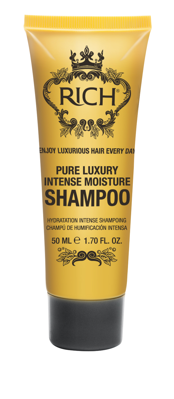 Rich Интенсивный увлажняющий шампунь, 50 мл72523WDШампунь для ежедневного применения. Интенсивно увлажняет и питает волосы, придает блеск и помогает улучшить состояние волос• Проникает внутрь волоса и утолщает его изнутри• Накапливается внутри волокна, делает волосы более густыми надолго• Пышные роскошные волосы после 5 применений