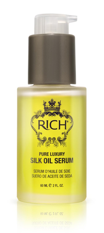 Rich Интенсивная сыворотка -масло для шелковистости и блеска волос без смывания 60 МЛFS-00897Несмываемая сыворотка делает волосы сияющими, гладкими, шелковистыми на ощупь. Идеально подходит для частого расчесывания, сглаживает чешуйки волос, предотвращает спутывание и появление узелков. Питает у увлажняет волосы натуральными маслами, не утяжеляет волос, быстро впитывается.