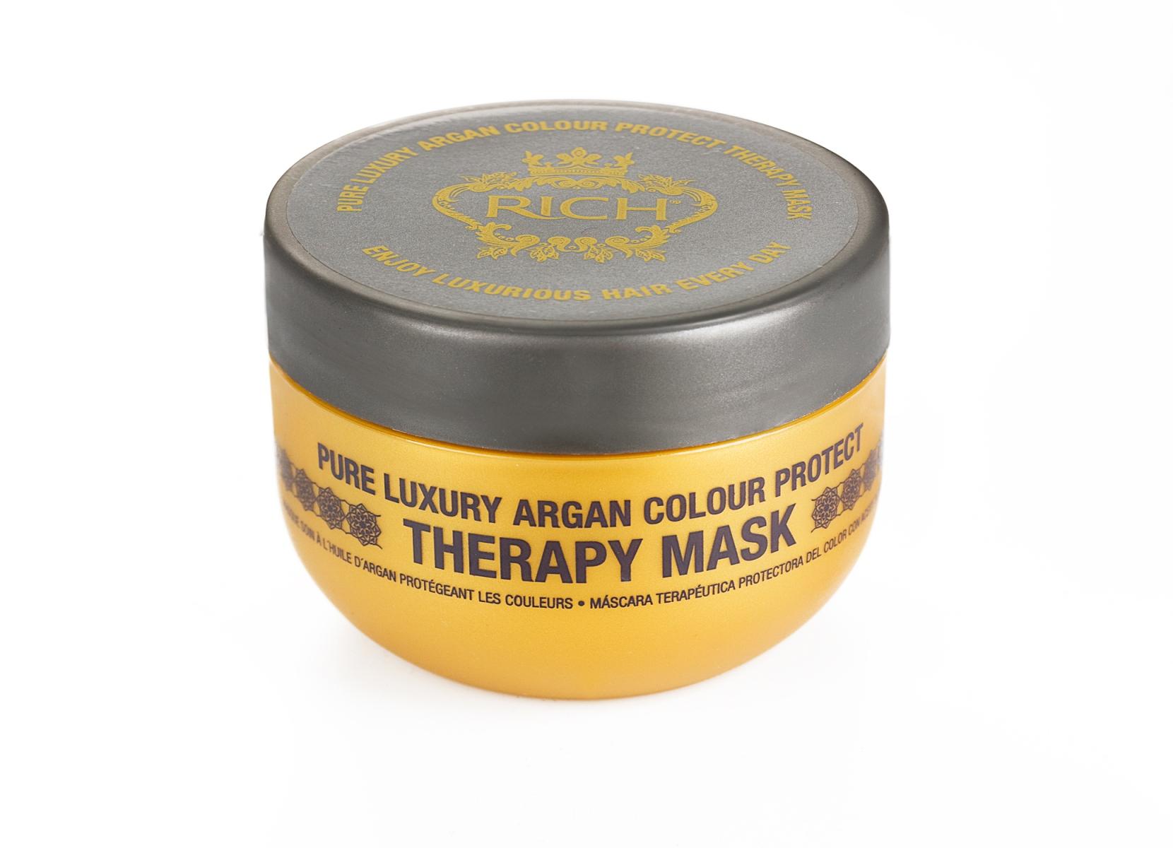 Rich Маска увлажняющая для окрашенных волос на основе арганового масла, 200 млP0898600Маска для окрашенных волос на основе арганового масла предназначенна для интенсивного ухода-увлажнения за окрашенными волосами и волосами, подвегшимся химической обработке. После применения маски волосы выглядят здоровыми, блестящими, мягкими и послушными.