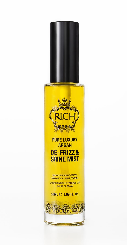 Rich Спрей-вуаль на основе арганового масла , придающий блеск и гладкость, 50 млFS-00897Мягкий спрей на основе арганового масла мгновенно проникает в структуру волоса, увлажняет, делает волосы мягкими блестящими и послушными. Защищает от воздействия горячего воздуха при укладке и воздействия UV лучей.
