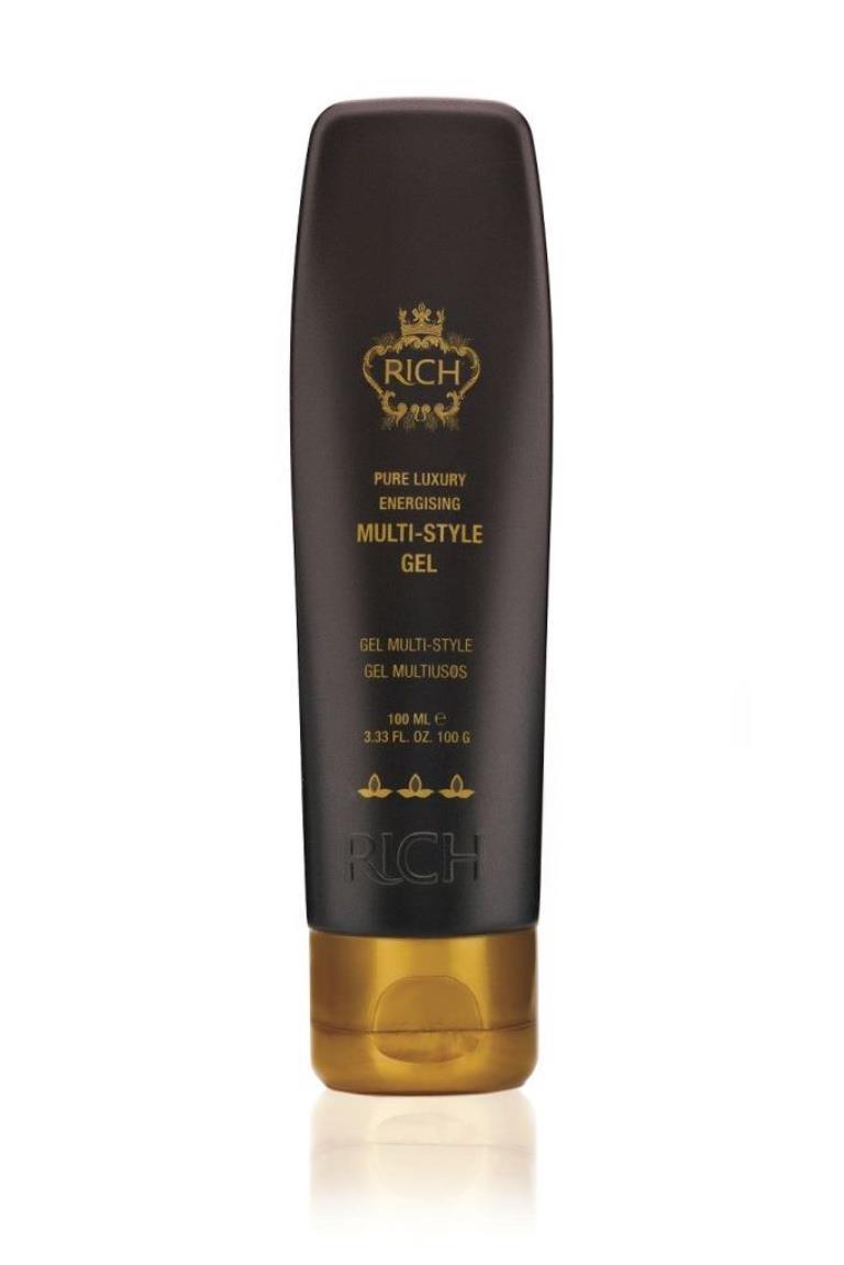 Rich Гель для стайлинга, 100 мл80285305Нанесите гель на влажные или сухие волосы и создайте желаемый образ! Можно так же нанести небольшое количество геля на ладони и пригладить волосы или усмирить непокорную челку. Гель помогает уплотнить волосяной стержень, придает объем вашим волосам. Не склеивает и оставляет липкости на волосах, сглаживает кутикулы. После применения волосы выглядят ухоженными и здоровыми, без посеченных кончиков. Сильная фиксация.