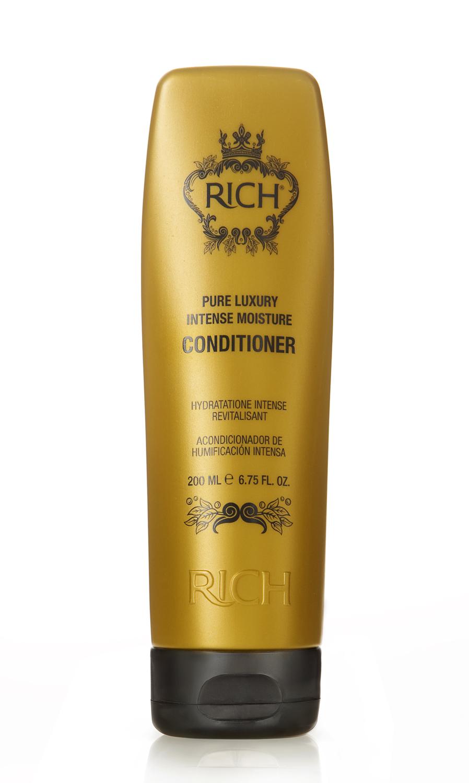 Rich Интенсивный увлажняющий кондиционер, 200 млE1576100Кондиционер для ежедневного применения. Придает волосам блеск и ухоженный вид, уменьшает наэлектризованность волос, придает волосам гдадкость. Защищает от агрессивного воздействия горячего воздуха при укладке, от негативного воздействия UV лучей
