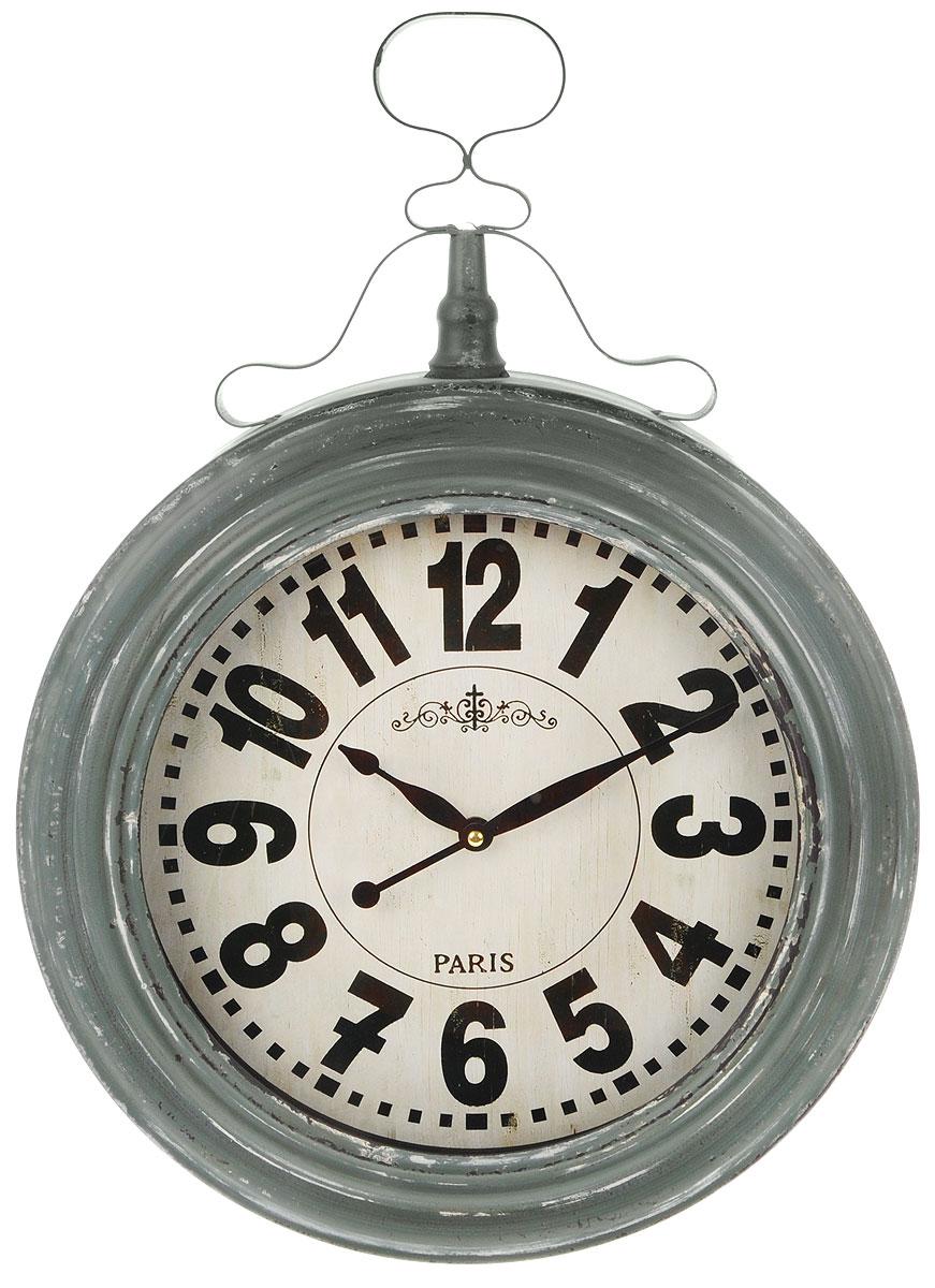 Часы настенные Gardman Henlein, цвет: серый, белый, черный94672Кварцевые настенные часы Gardman Henlein выполнены из металла с состаренным порошковым покрытием. Такие часы подходят для использования как в помещении, так и на улице. Часы оформлены арабскими цифрами и имеют две стрелки - часовую и минутную.Часы Gardman Henlein станут замечательным дизайнерским решением для декора сада, дачи или гостиной дома.Работают от 1 батарейки типа AA (в комплект не входит).Диаметр циферблата: 29 см.