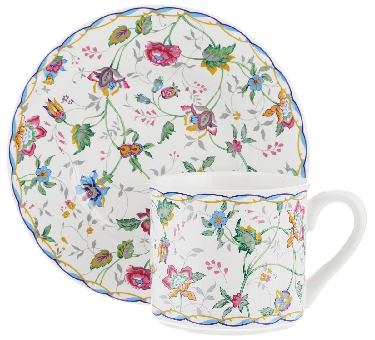 Чайная пара Gotoff, 2 предмета115510Чайная пара Gotoff состоит из чашки и блюдца, изготовленных из высококачественного фаянса. Оригинальный яркий дизайн, несомненно, придется вам по вкусу.Чайная пара Gotoff украсит ваш кухонный стол, а также станет замечательным подарком к любому празднику.Диаметр чашки (по верхнему краю): 8 см.Высота чашки: 8 см.Объем чашки: 200 мл.Диаметр блюдца: 16,5 см.