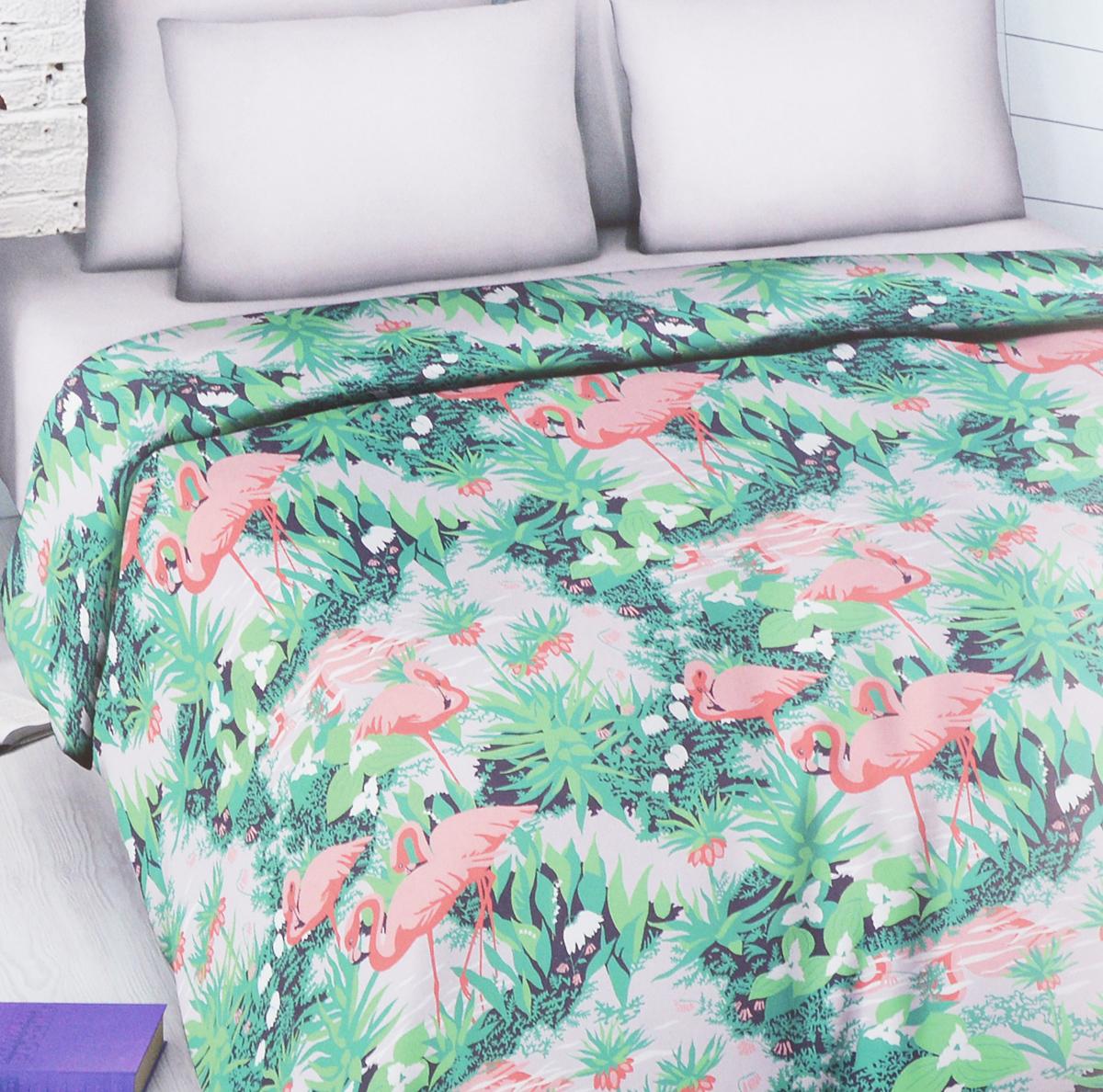 Комплект белья Василиса Фламинго, семейный, наволочки 70х70Э-2028-03Комплект белья Василиса Фламинго, выполненный из набивной бязи (100% хлопок), состоит из двух пододеяльников, простыни и двух наволочек.Бязь - хлопчатобумажная ткань полотняного переплетения без искусственных добавок. Большое количество нитей делает эту ткань более плотной, более долговечной. Высокая плотность ткани позволяет сохранить форму изделия, его первоначальные размеры и первозданный рисунок.Приобретая комплект постельного белья Василиса, вы можете быть уверенны в том, что покупка доставит вам и вашим близким удовольствие и подарит максимальный комфорт.