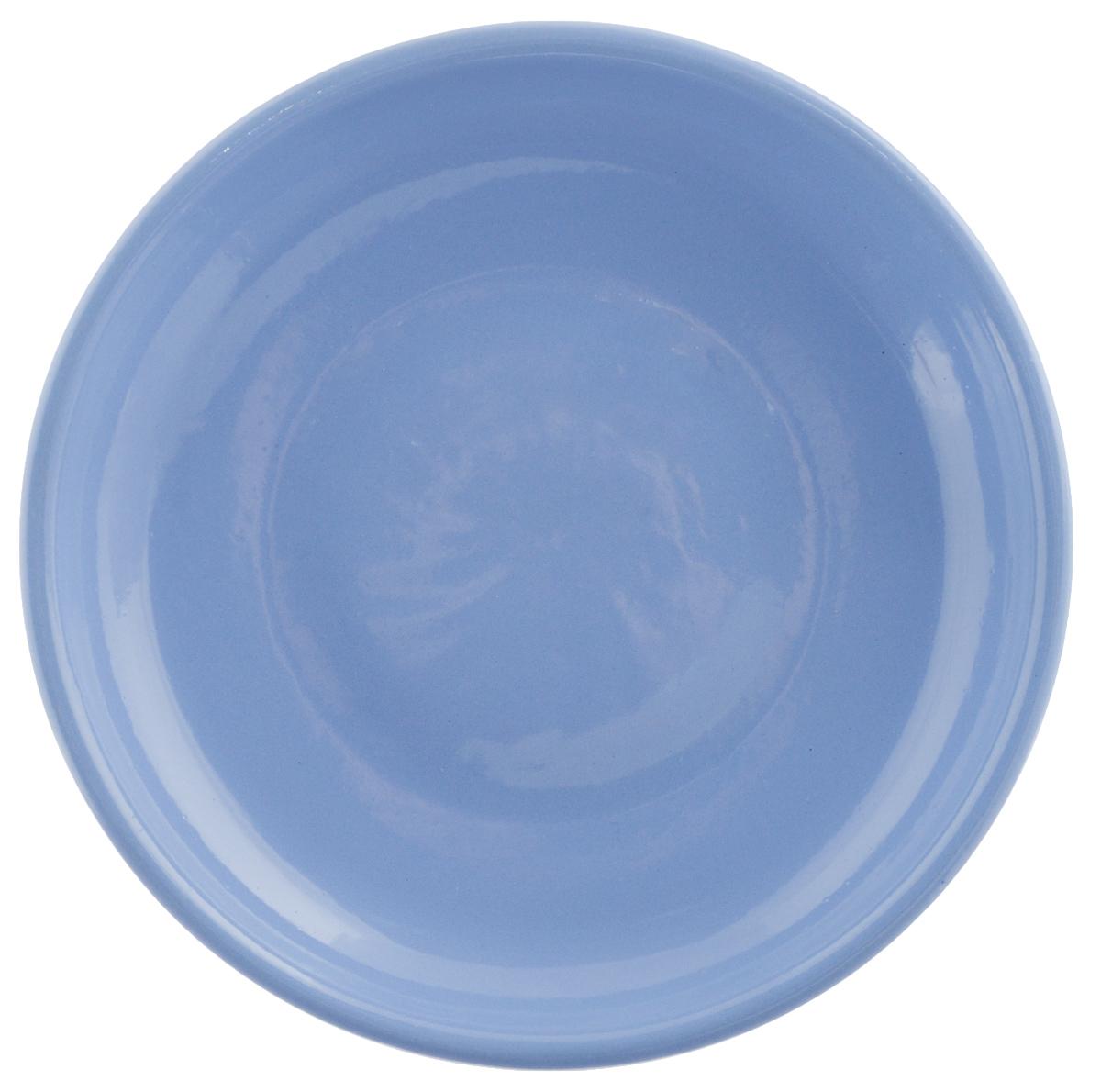 Тарелка Борисовская керамика Радуга, цвет: голубой, диаметр 18 смAJSARN11025Тарелка Борисовская керамика Радуга выполнена из высококачественной керамики. Изделие идеально подойдет для сервировки стола и станет отличным подарком к любому празднику. Можно использовать в духовке и микроволновой печи.