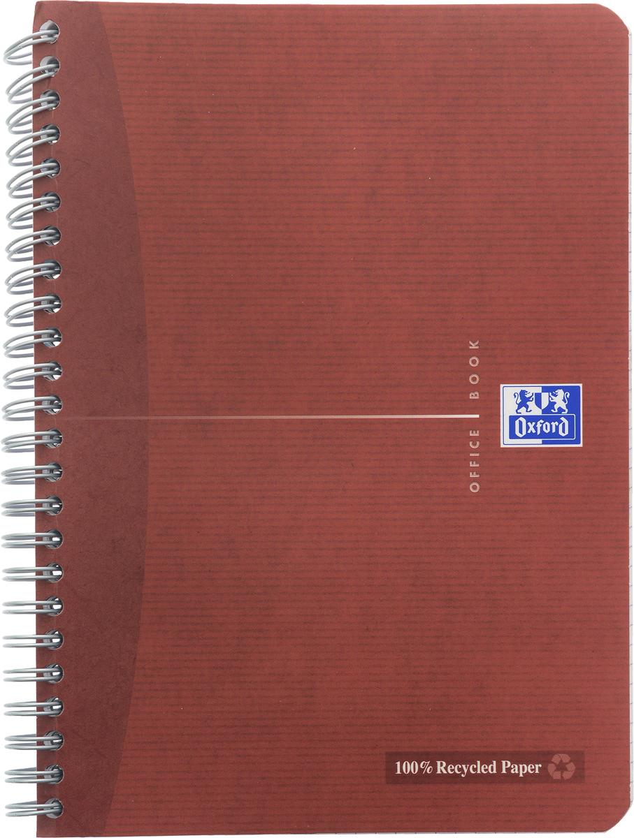 Oxford Тетрадь Эко 90 листов в клетку цвет красно-коричневый39839Красивая и практичная тетрадь Oxford Эко отлично подойдет для школьников, студентов и офисных служащих.Обложка тетради выполнена из плотного, но гибкого ламинированного картона с закругленными краями. Тетрадь формата А5 состоит из 90 белых листов на двойном гребне с линовкой в клетку без полей. Практичное и надежное крепление на гребне позволяет отрывать листы и полностью открывать тетрадь на столе. Тетрадь дополнена съемной закладкой-линейкой из гибкого пластика.Вне зависимости от профессии и рода деятельности у человека часто возникает потребность сделать какие-либо заметки. Именно поэтому всегда удобно иметь эту тетрадь под рукой, особенно если вы творческая личность и постоянно генерируете новые идеи.