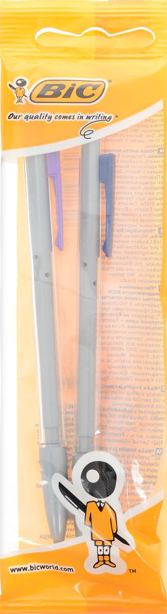 Bic Набор механических карандашей Matic 2 шт72523WDНабор механических карандашей Bic Matic будет вашим незаменимым помощников в школе, офисе и дома.Благодаря выдвижному пишущему узлу карандаши не пачкаются. Прорезиненный грип исключает скольжение пальцев во время письма, обеспечивая комфорт. Специальный ластик для графита встроен в кнопку каждого карандаша. В комплекте 2 чернографитовых карандаша с ластиком и удобным цветным зажимом.